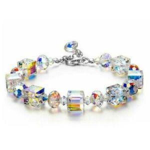 Lovely Swarovski Aurora Borealis Crystal Bracelet